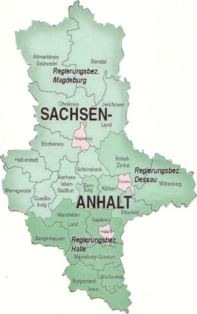 Karte Sachsen Anhalt Städte | hanzeontwerpfabriek